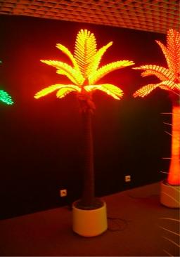 Светодиодная пальма 1 жёлтая купить с доставкой в ваш город по выгодной цене