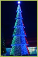 Сегментная ель Светодинамическая 13,5 метров купить с доставкой в ваш город по выгодной цене