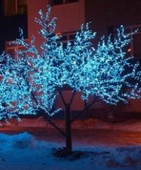 Одноцветные светодиодные деревья
