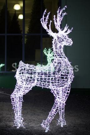 Новогодняя световая фигура 3D олень «Резвый», высота 1,9 метра