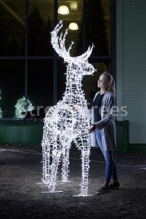 Новогодняя световая фигура 3D олень «Резвый», высота 2.3 метра