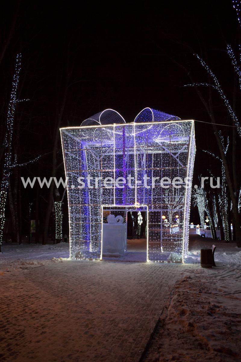 Световая конструкция «Большой подарок» купить с доставкой в ваш город по выгодной цене