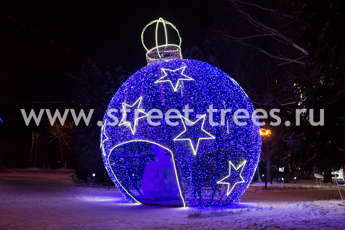 Световая конструкция «Большой шар»