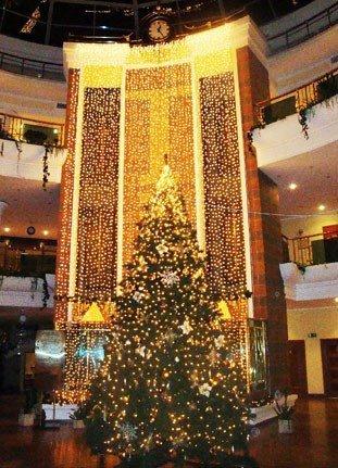 Новогоднее оформление торговых центров от специалистов Street Trees