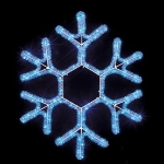 """Световой мотив """"Снежинка Новогодняя"""" синяя купить с доставкой в ваш город по выгодной цене"""