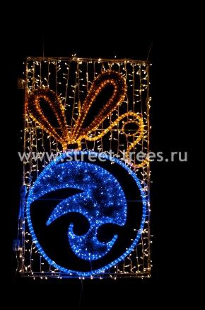 Световое панно «Шар новогодний»