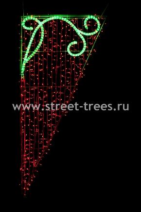 Световое панно «Зеленая ветка»