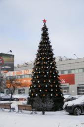 Новогодние уличные елки в Казани