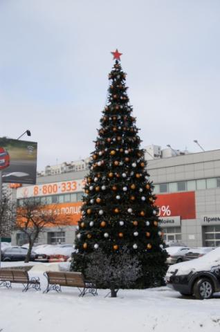 Каркасная уличная ель Уральская 8 метров купить с доставкой в ваш город по выгодной цене