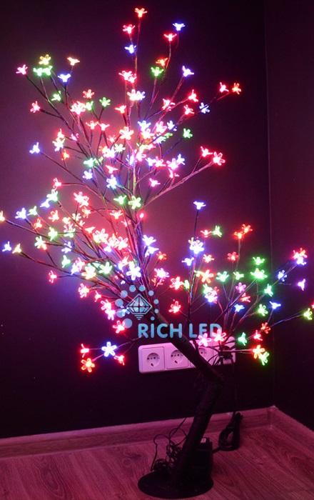 Светодиодное дерево Rich LED Хамелеон RGB, Сакура 150, 24В RGB
