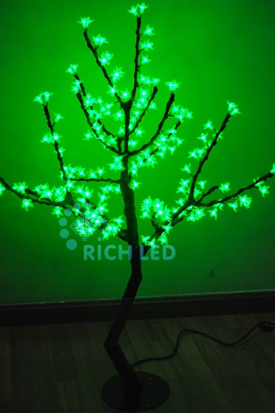 Светодиодное дерево Rich LED Сакура 110, 24В зеленое