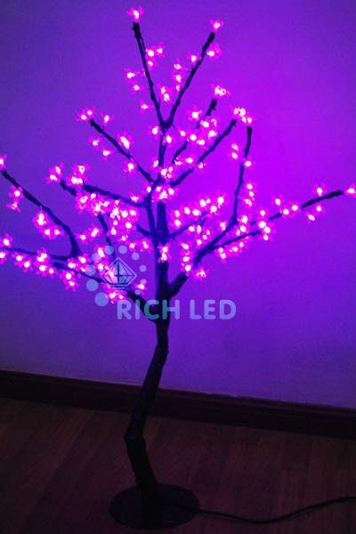 Светодиодное дерево Rich LED Сакура 110, 24В розовое