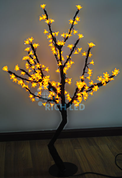 Светодиодное дерево Rich LED Сакура 110, 24В желтое