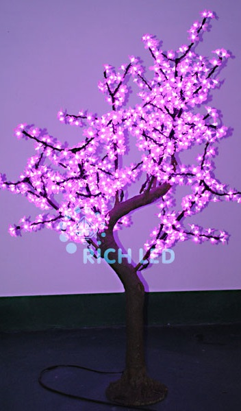 Светодиодное дерево Rich LED Сакура 220 ИМИТАЦИЯ, 24В розовое