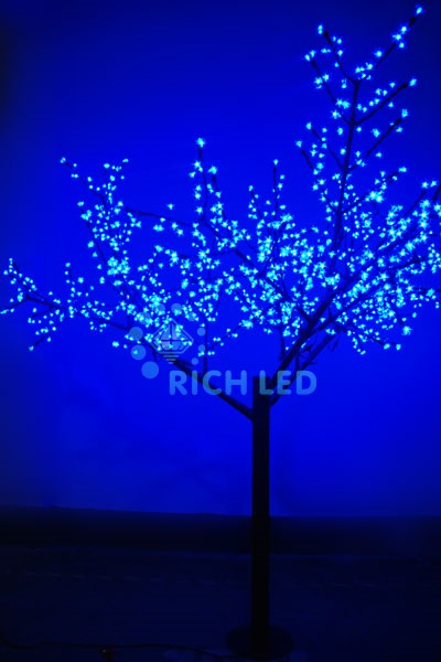 Светодиодное дерево Rich LED Сакура 250, 24 В синее