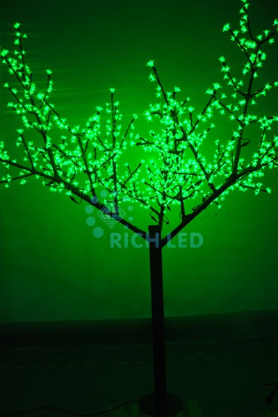 Светодиодное дерево Rich LED Сакура 250, 24 В зеленое