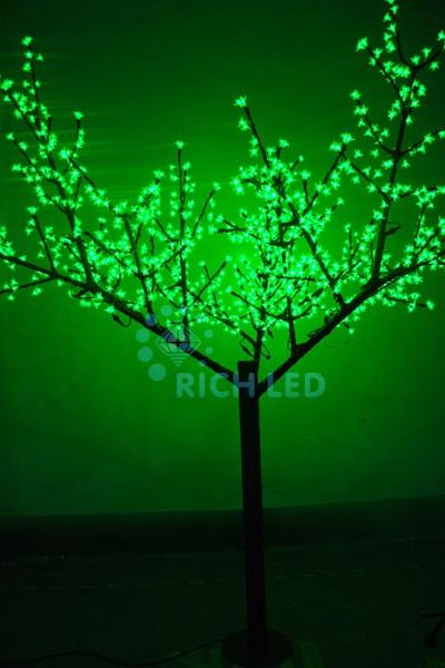 Светодиодное дерево Rich LED Сакура 250, 220 В зеленое