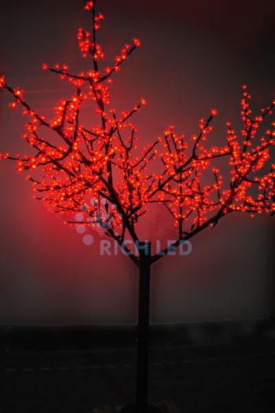 Светодиодное дерево Rich LED Сакура 250, 24 В красное