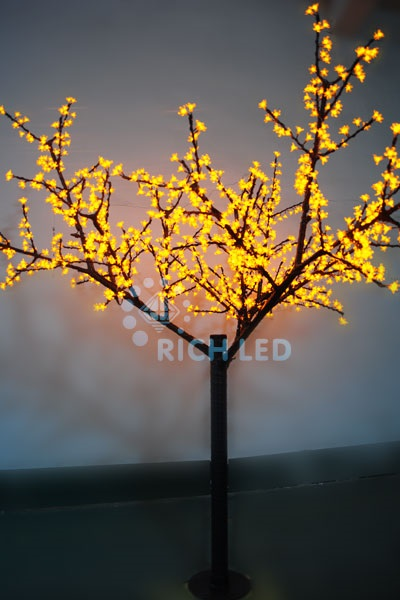 Светодиодное дерево Rich LED Сакура 250, 220 В желтое